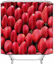 Shower Curtain Liner Fresh Strawberries Pattern