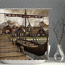Shower Curtain Old Boat Decor Shower Curtain