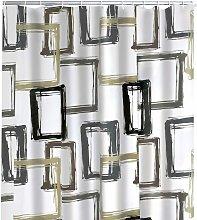 Shower Curtain Pattern Brown 180x200 cm -