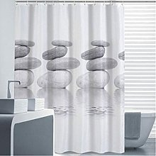 Shower Curtain Pebble Gray, mildew resistant and