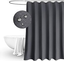 Shower Curtain , Plain Design Waffle Checked