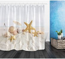 Shower Curtain, Polyester Fabric, Extra-Long Bath