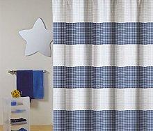Shower curtain Premium 180x200cm Quadro blue