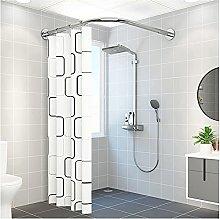 Shower Curtain Rod Extendable Curved Corner Bath