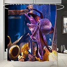 Shower Curtain Shower Curtain Purple Octopus