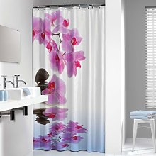 Shower Curtain Spa 180x200cm Pink and White -