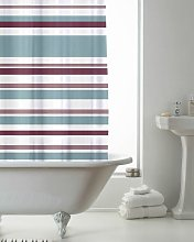 Shower Curtain Stripe Pink and Teal - Country Club