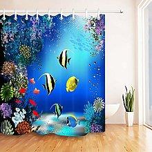 Shower Curtain Underwater World with Fish & Plant