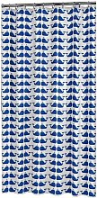 Shower Curtain Whale Blue and White - Sealskin