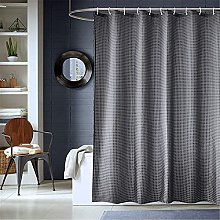 Shower Curtain with Hooks Polyester Fabric