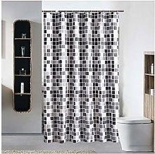 Shower Curtain with Plastic Hooks Machine Washable