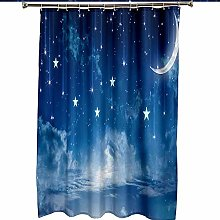 Shower Curtains 3D Waterproof Anti-mold Curtain