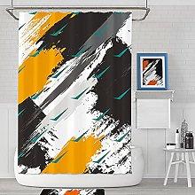 Shower Curtains Waterproof Black White Mustard