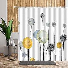 Shower Curtains Waterproof White Gray Mustard