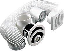 Shower enclouser overhead Extractor Fan light vent