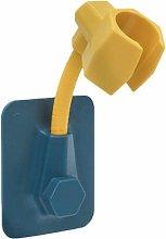 Shower Hand Shower Holder, Wall Mounted Shower Head Holder Wall Mount Adjustable Hand Shower Holder, Waterproof, Heavy Duty, Bathroom Accessory (Yellow)
