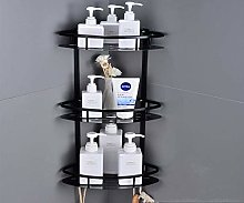 NANANA Shelf Suction Floating Corner Shower Shelf Bathroom Shampoo Shower Shelf Holder Kitchen Storage Rack Organizer