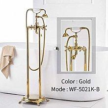 Shower System Bathtub Faucets Gold Brass Bathroom