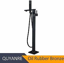 Shower System Black Orb Bathtub Floor Stand Faucet