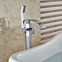 Shower System Bright Chrome Solid Brass Floor