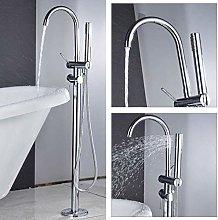 Shower System Chrome Bathtub Faucet 360 Rotation