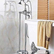 Shower System Chrome Floor Stand Bath & Shower