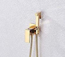Shower System Gold Rose Bathroom Bidet Faucet Hot