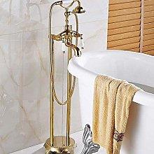Shower System Golden Bathroom Floor Stand Faucet