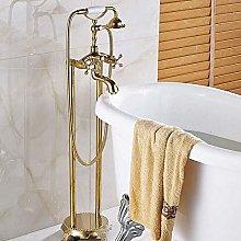 Shower System Golden Bathroom Free Floor Stand