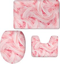 Showudesigns Pink Feathers Toilet Seat lid Cover