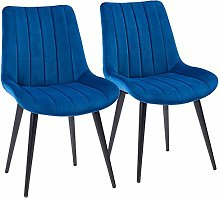 SHOWVISION Slope Seat Dining Chairs Set of 2,