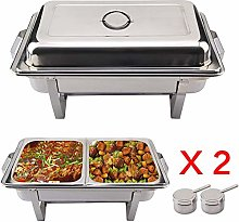 Shoze Pack Of 2 Stainless Steel Large Chafing Dish