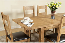 Shrewsbury Dining table with 2 extensions 132 -198