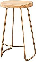 SHSM Bar Chair Home Solid Wood High Stool Fashion