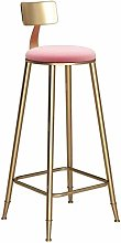 SHSM Bar Stool Niture Round Golden Barstool Steel