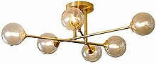 SHSM Modern Brass Living Room Ceiling Lights,G9