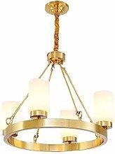 SHSM Modern Brass Round Sputnik Chandeliers
