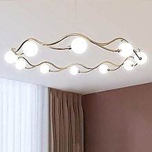 SHSM Modern Creative Chandeliers Light,Gold Curved