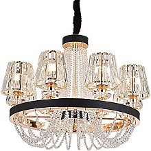 SHSM Modern Crystal Chandelier,Adjustable Dining