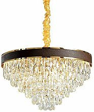 SHSM Modern Round Crystal Chandelier,Adjustable
