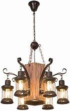 SHSM Rustic Industrial Wood Chandelier,Elegant