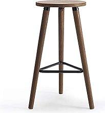 SHSM Simple Domain Solid Wood Bar Stool Chair High