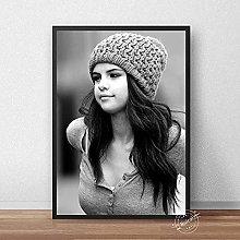 SHSYFBH Canvas printing Selena Gomez Poster Music