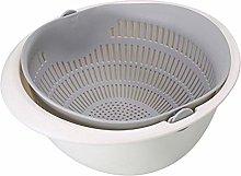 SHT Fashion Double Drain Basket Bowl Washing