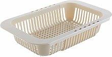 SHT Kitchen Retractable Sink Drain Basket Plastic