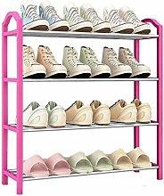 SHUAISHUAI 4 Layer Metal Shoe Rack Easy Assembled