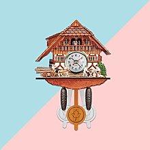 SHUBIHU Cuckoo Wall Clock Chime Alarm Clock Retro
