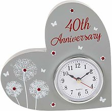 Shudehill Giftware 40th Wedding Anniversary Mantle