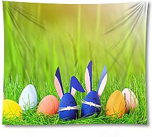 shuimanjinshan Easter Print Fabric Home Decor Rug