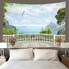 shuimanjinshan Tapestry Beach Throw Balcony view